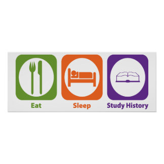 Eat Sleep Study History Poster