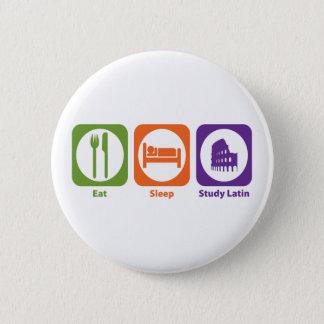 Eat Sleep Study Latin Button