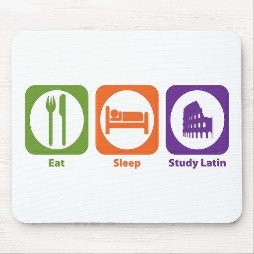 Eat Sleep Study Latin Mouse Pads