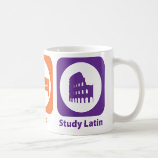 Eat Sleep Study Latin Mug