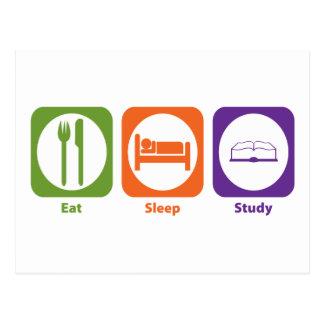 Eat Sleep Study Postcard