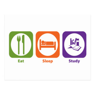 Eat Sleep Study Postcard