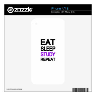 Eat sleep study repeat skin for the iPhone 4