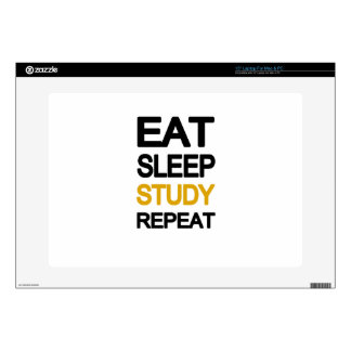 Eat sleep study repeat skins for laptops