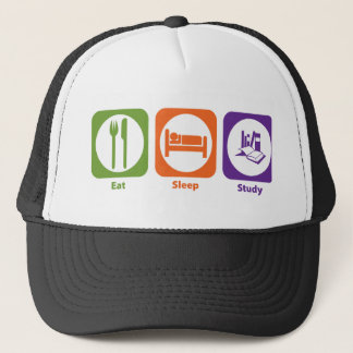 Eat Sleep Study Trucker Hat