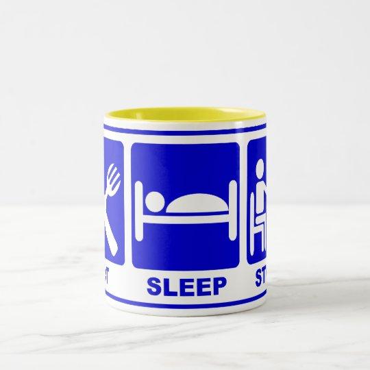 EAT SLEEP STUDY Two-Tone COFFEE MUG