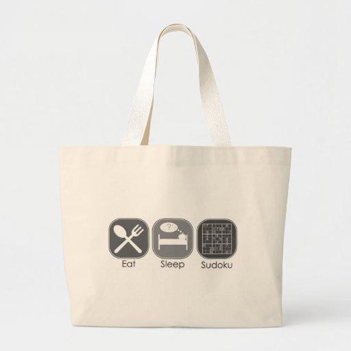 Eat Sleep Sudoku Copy Canvas Bag
