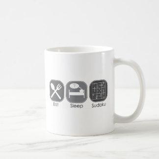 Eat Sleep Sudoku Copy Classic White Coffee Mug