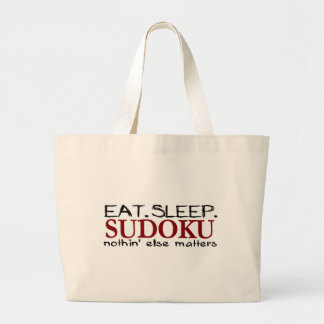 Eat Sleep Sudoku Large Tote Bag