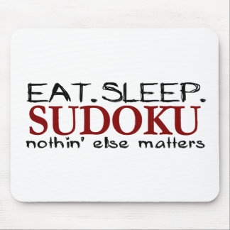 Eat Sleep Sudoku Mouse Pad
