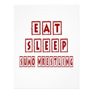 Eat Sleep Sumo Wrestling Letterhead