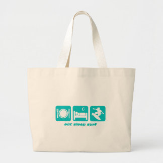 Eat sleep surf jumbo tote bag