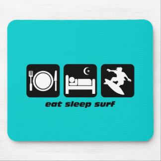 Eat sleep surf mouse pad