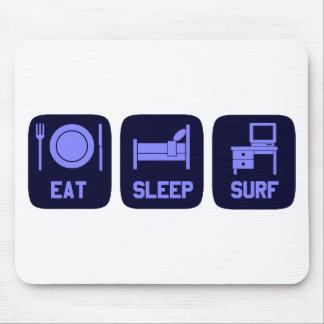 Eat Sleep Surf Online Mouse Pad
