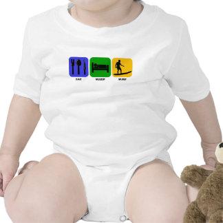 Eat Sleep Surf Baby Bodysuit