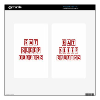 Eat Sleep Surfing Decal For Kindle Fire