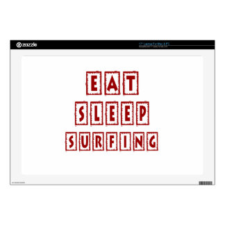 Eat Sleep Surfing Decals For Laptops