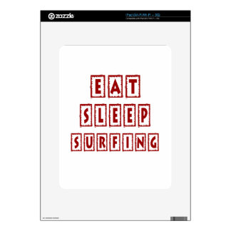 Eat Sleep Surfing Decals For The iPad