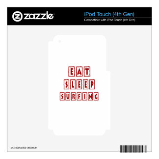 Eat Sleep Surfing Decal For iPod Touch 4G