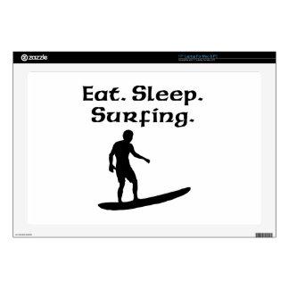 """Eat Sleep Surfing 17"""" Laptop Skins"""