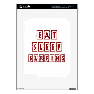 Eat Sleep Surfing iPad 3 Skins