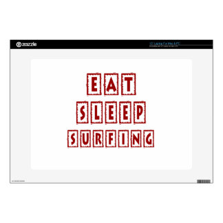 Eat Sleep Surfing Decal For Laptop
