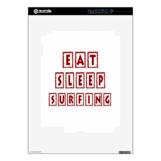 Eat Sleep Surfing Decal For iPad 2