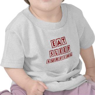 Eat Sleep Surfing T Shirts