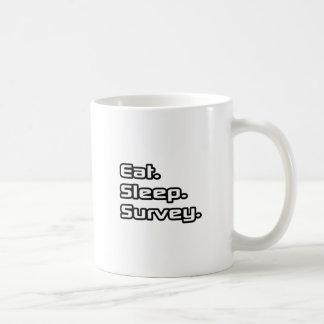 Eat. Sleep. Survey. Classic White Coffee Mug