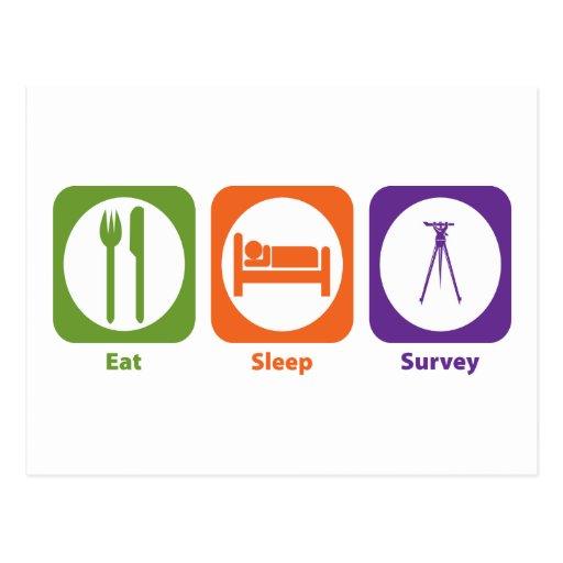 Eat Sleep Survey Postcards