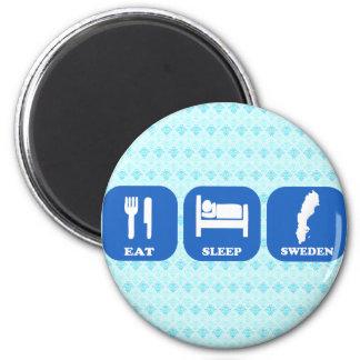 Eat Sleep Sweden 2 Inch Round Magnet