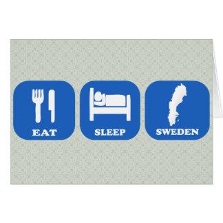 Eat Sleep Sweden Greeting Card