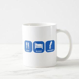 Eat Sleep Sweden Classic White Coffee Mug