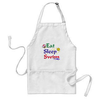 Eat Sleep Swim Adult Apron