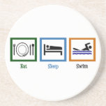 Eat Sleep Swim Beverage Coasters