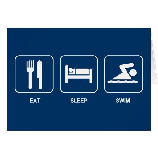 Eat Sleep Swim Card