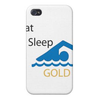 Eat Sleep Swim Gold Speck Case