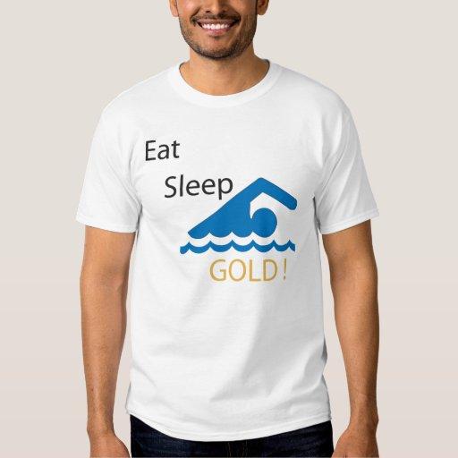 Eat Sleep Swim Gold! T-Shirt
