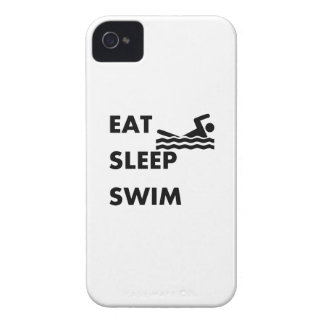 Eat Sleep Swim iPhone 4 Case-Mate Case