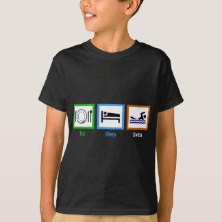 Eat Sleep Swim Kids T-Shirt