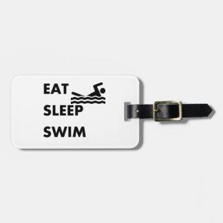 Eat Sleep Swim Luggage Tag
