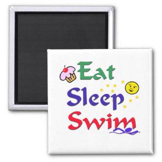 Eat Sleep Swim Refrigerator Magnets