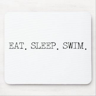 Eat Sleep Swim Mouse Pad