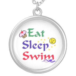 Eat Sleep Swim Pendant