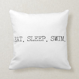 Eat Sleep Swim Pillow