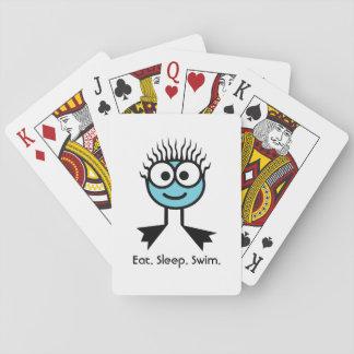 Eat. Sleep. Swim Playing Cards