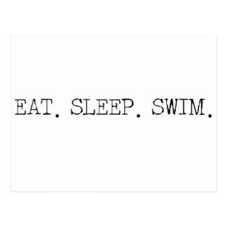 Eat Sleep Swim Postcard