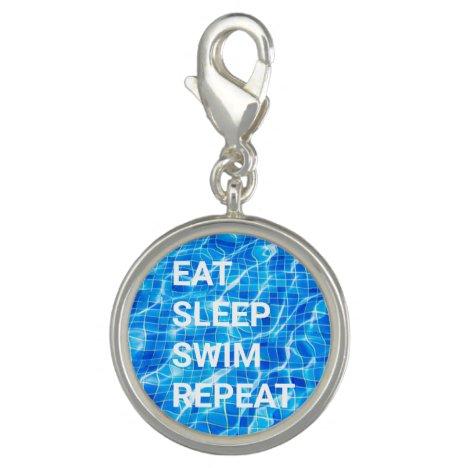 Eat Sleep Swim Repeat Swimming Pool Aquatic Charm