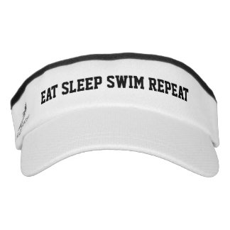 EAT SLEEP SWIM REPEAT swimming sun visor cap