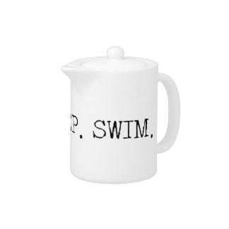 Eat Sleep Swim Teapot